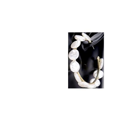 Merry Go Round Pearl Hoop Earrings