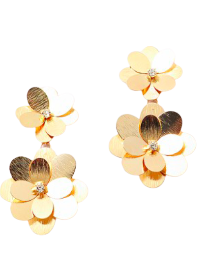 Golden Girl Flower Drop Earrings