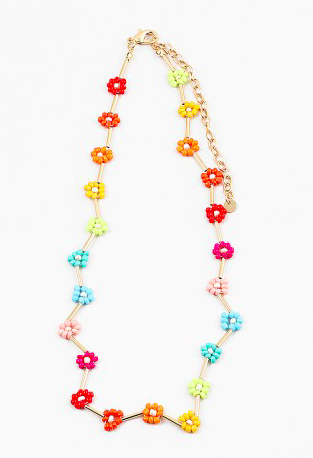 A Rainbow of Flowers Necklace