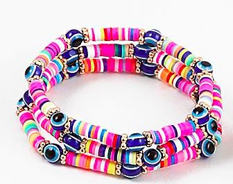 Lucky 7 Evil Eye Bracelets